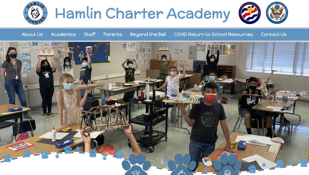 Hamlin Charter Academy website