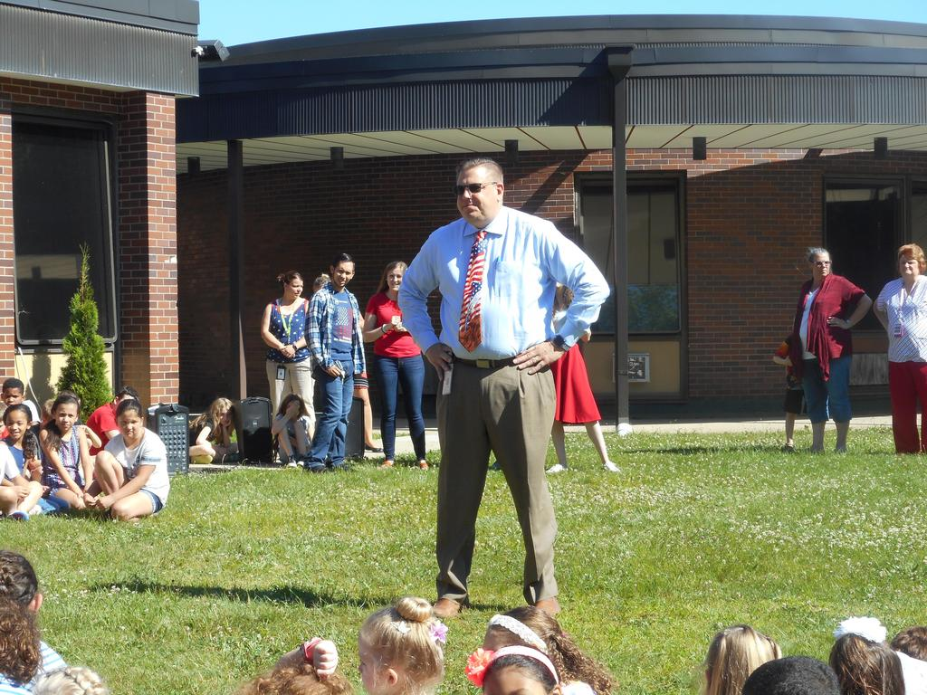 Mr. Gruber at Flag Day Ceremony