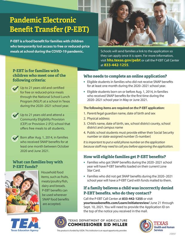 Pandemic Electronic Benefit Transfer (P-EBT) Featured Photo