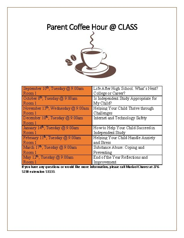 Parent Coffee Hour