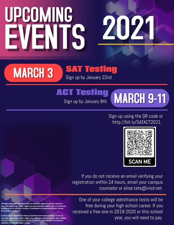 SAT ACT spring sign up