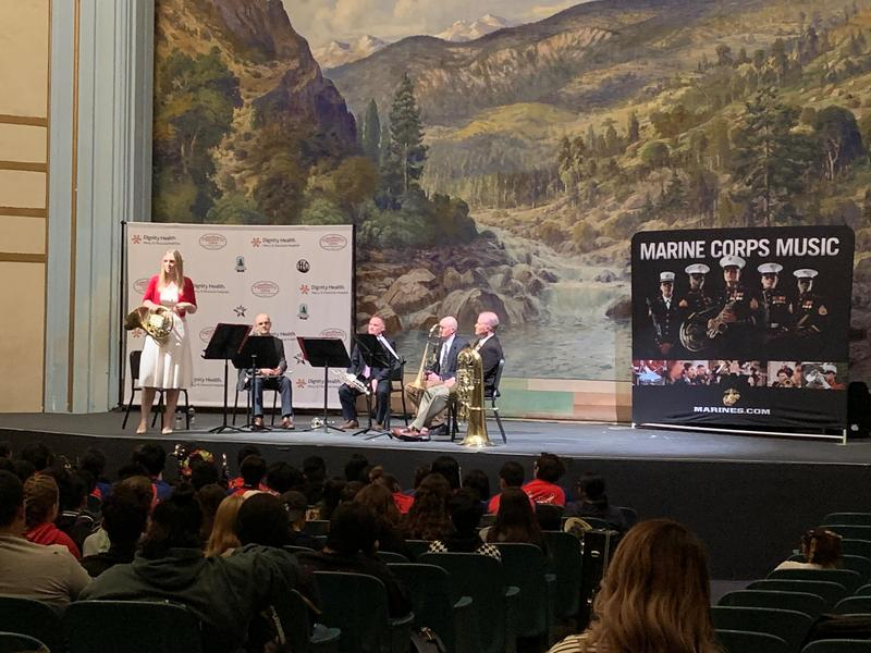The U.S. Marine Band stops off at East Bakersfield High School to perform and inspire young band students.
