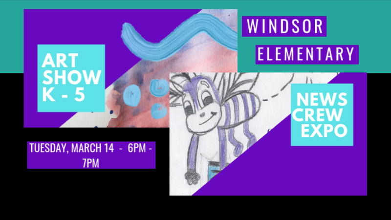 Flyer for News Crew Expo and Art Show, Tuesday, May 14, 2019 from 6:00 - 7:00 p.m.  Please join us!