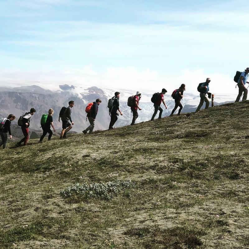 Camping Associates Hike Through Iceland Featured Photo