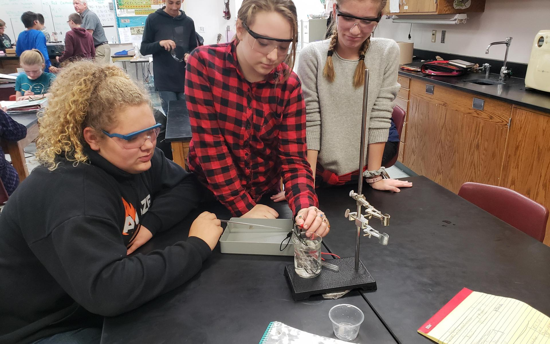 Picture of students in science lab