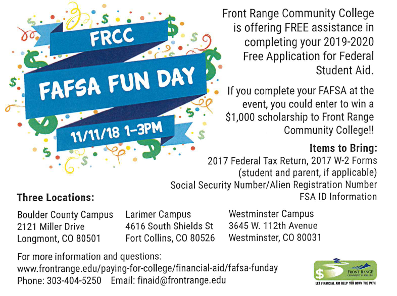 FRCC FAFSA Fun Day