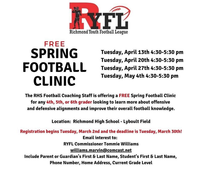 Free Spring Football Clinic