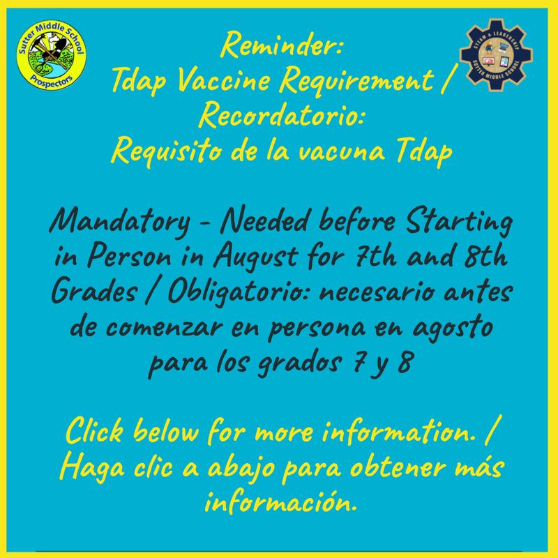 Tdap Immunization Requirement / Requisito de vacunación Tdap Featured Photo