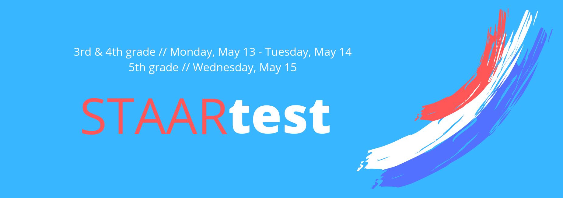 STAAR schedule image