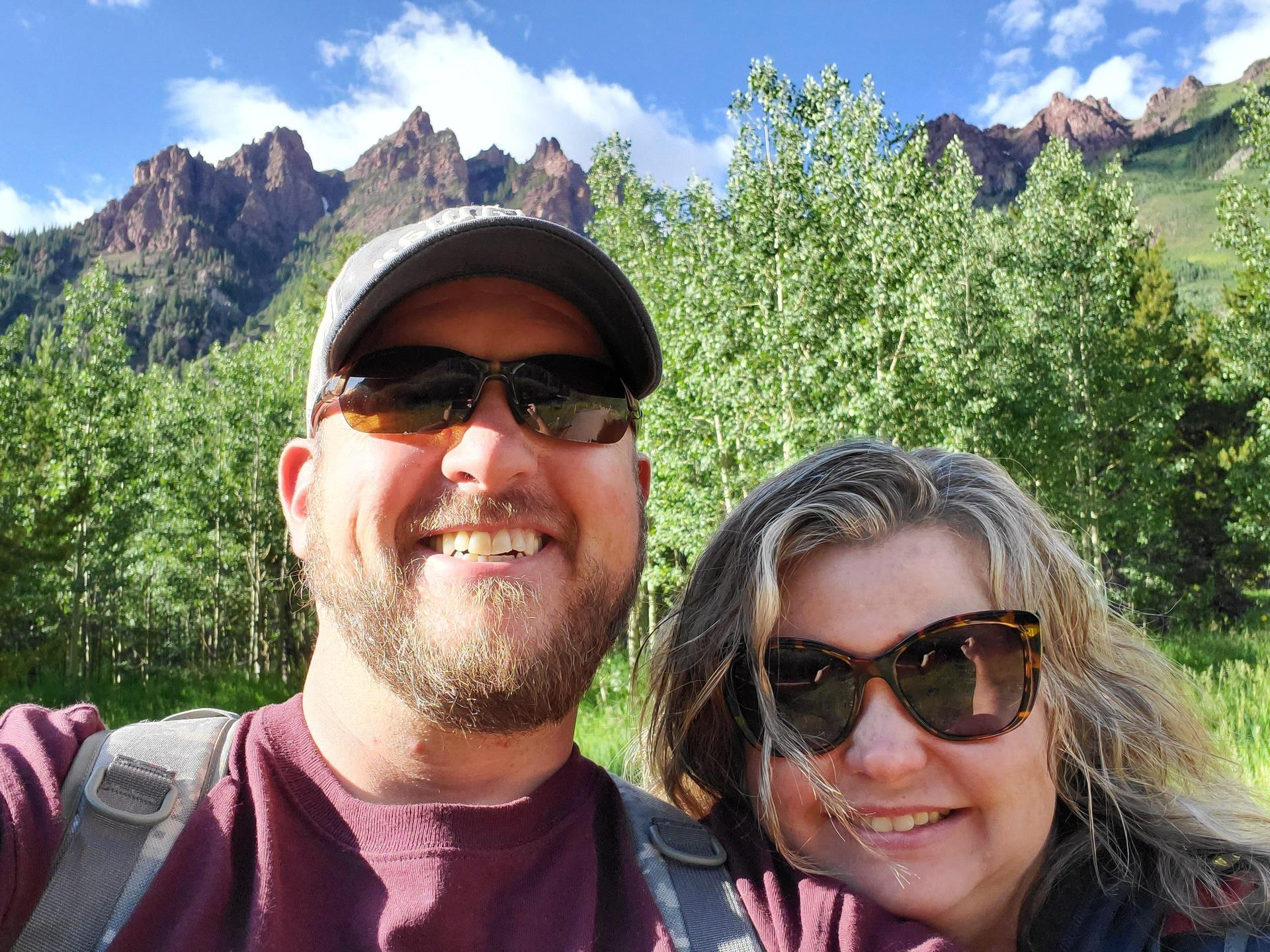Mr. Wright and I hiking in Maroon Bells up to Crater Lake. It was breathtaking!!