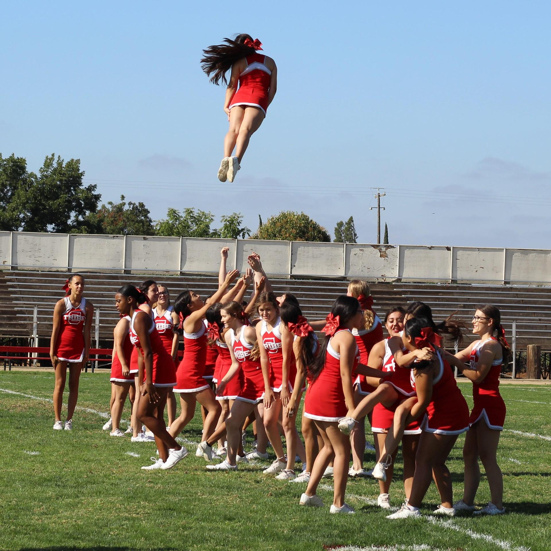 ASB and Cheer at Homecoming Rally
