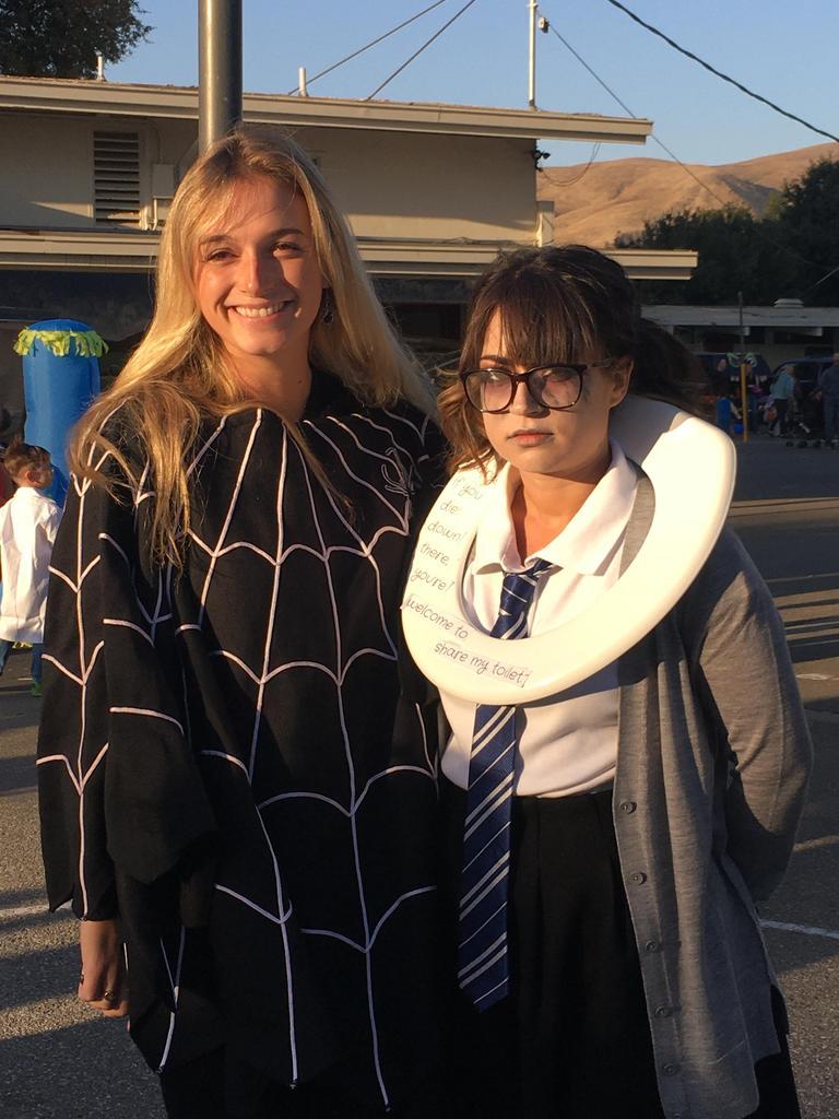 teachers dressed in halloween costumes