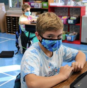 Photo of student in tie-dye for Week of Respect.
