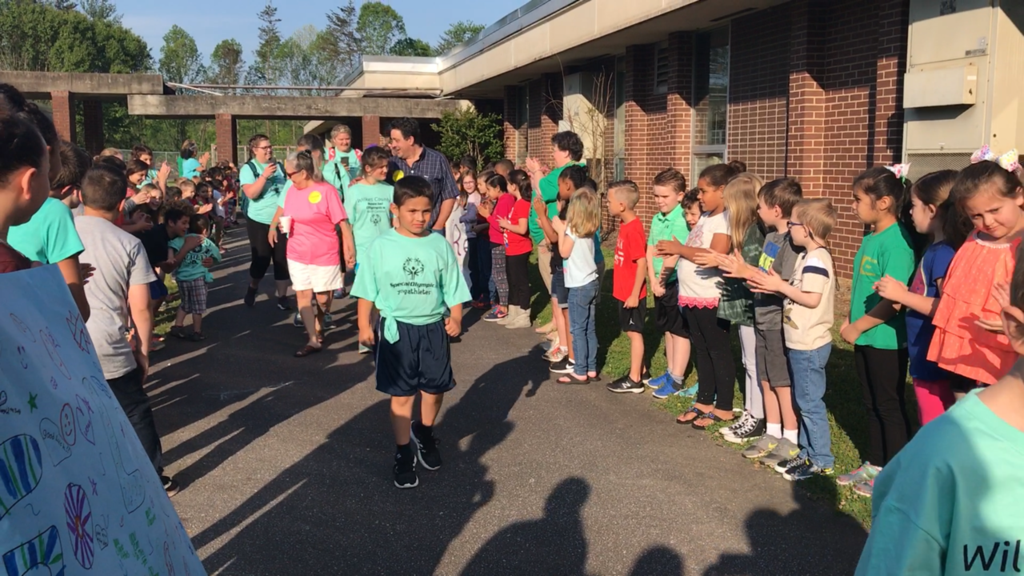 Student participating Special Olympics