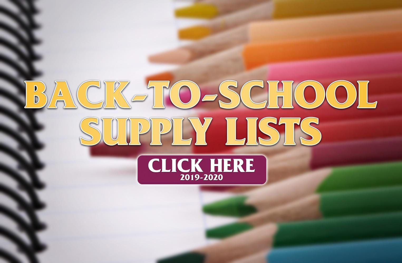 Back-to-School Supply Lists (2019-2020)