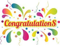 Clipart of Congratulations poster.