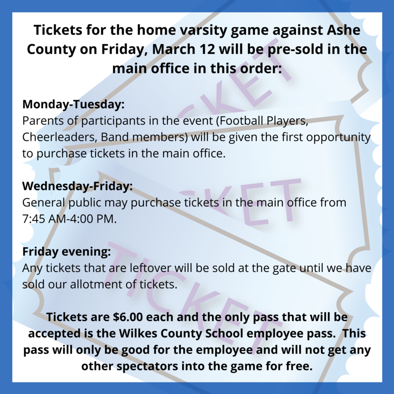 football tickets for Friday, March 12