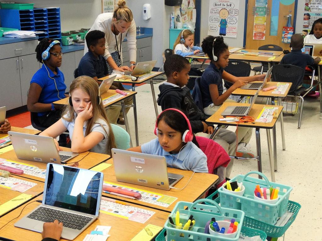 RES students engaged - 1:1 Devices