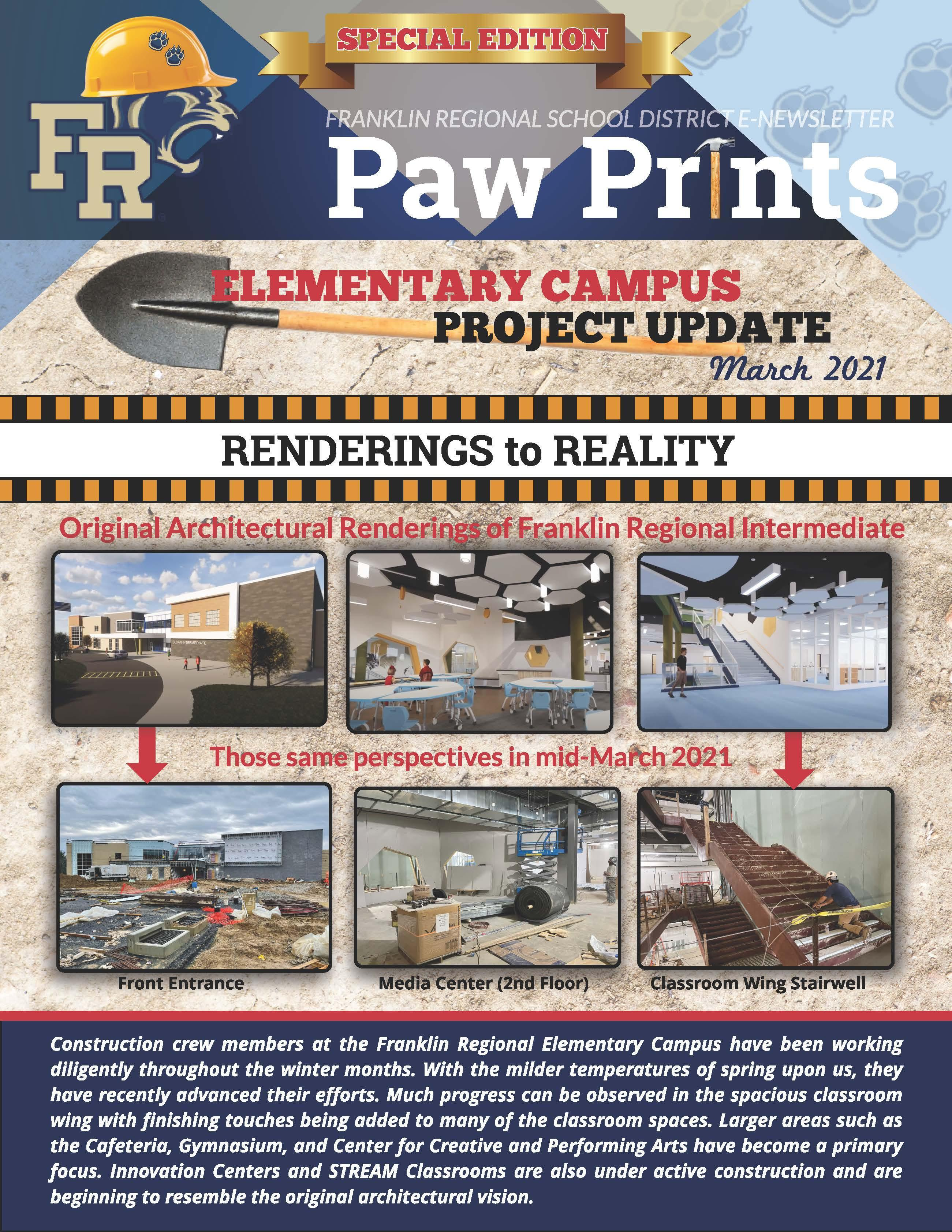Paw Prints March Construction Update (Pg. 1)