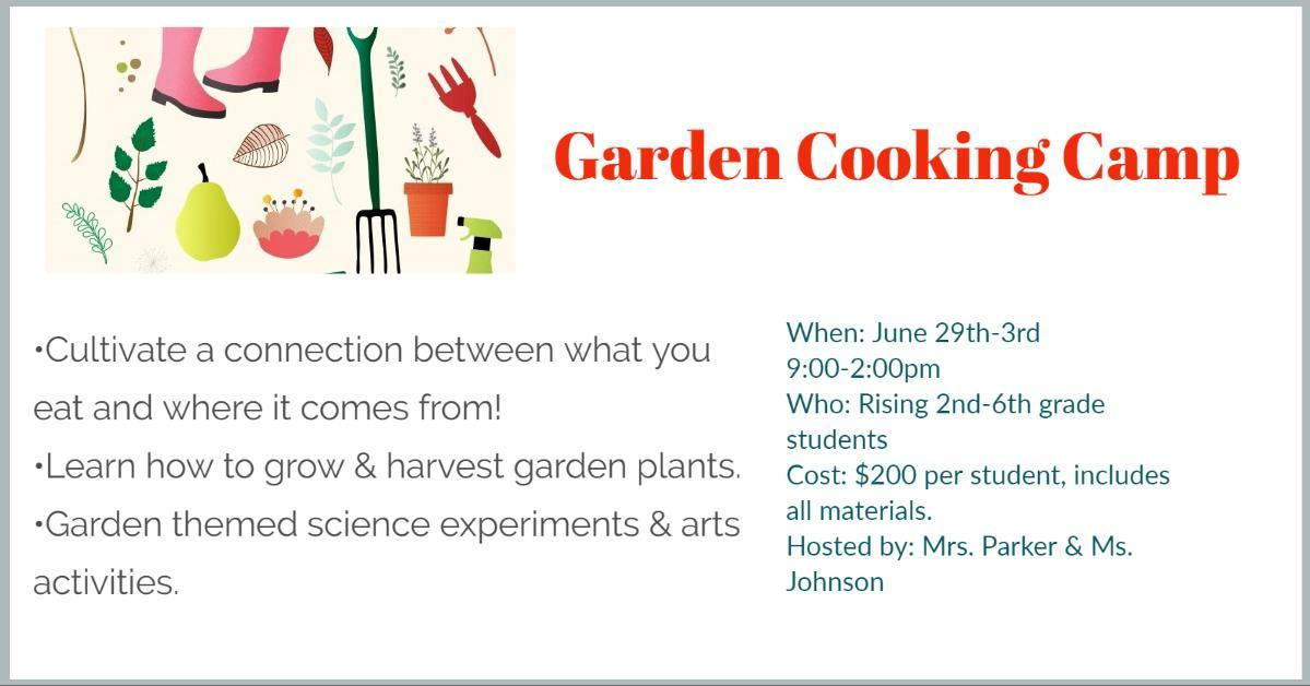 Garden Cooking Camp