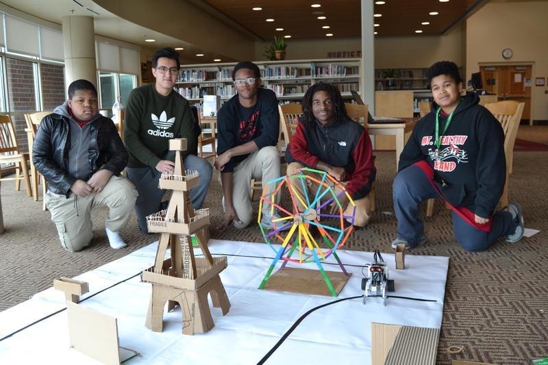 Team Blank posing with their project