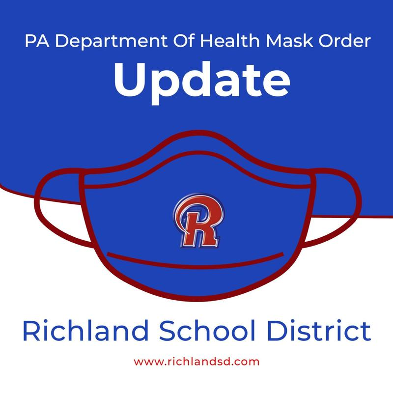 PA Department Of Health Mask Order - Richland School District Featured Photo