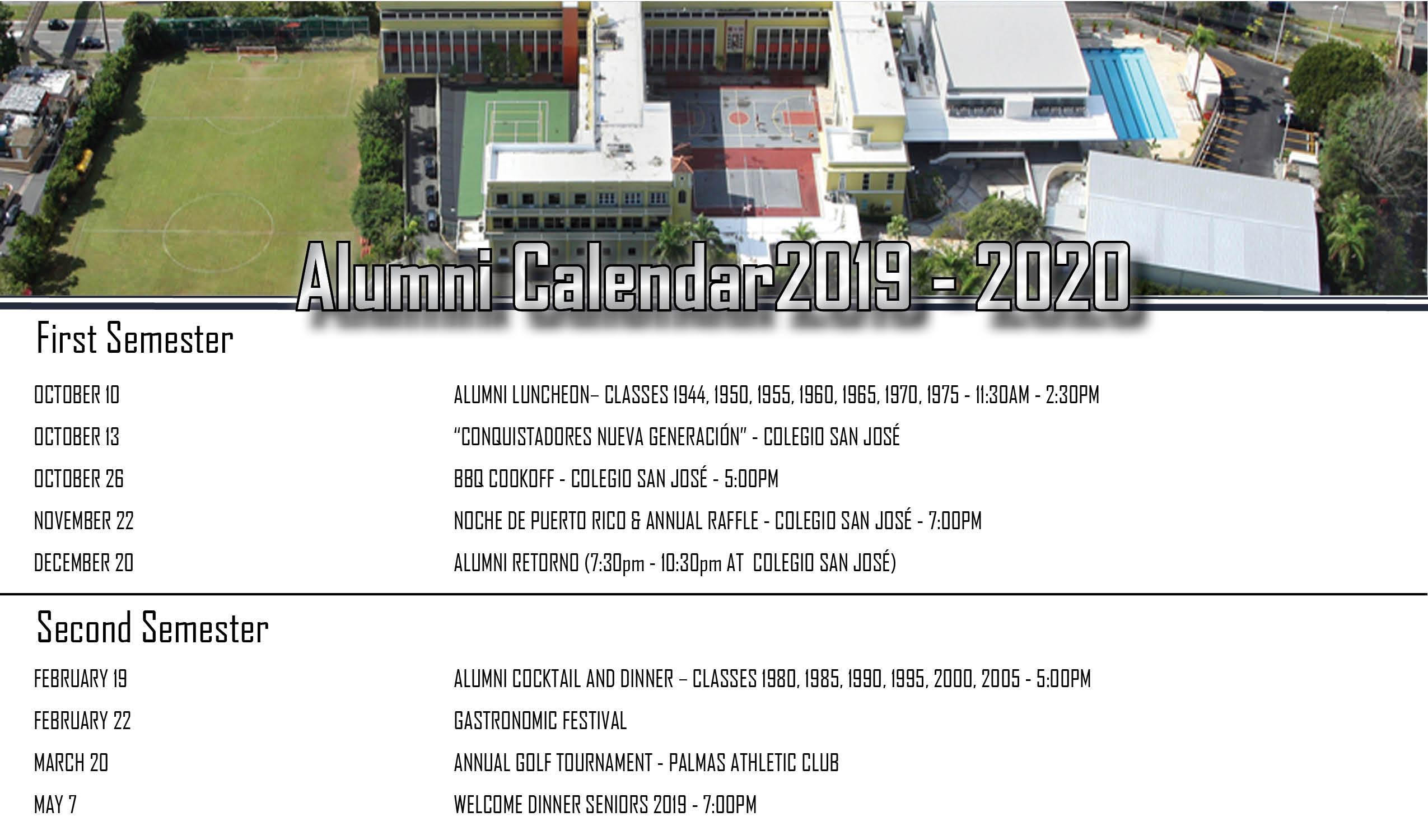 1990 Calendario.Colegio San Jose