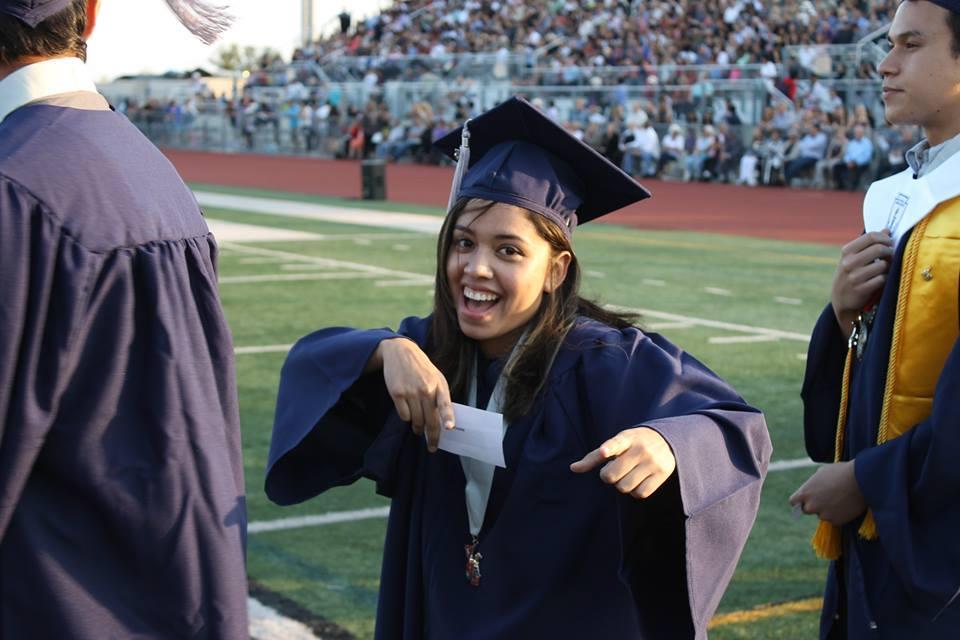 A student at graduation