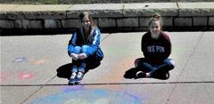 Earth Day Sidewalk Art