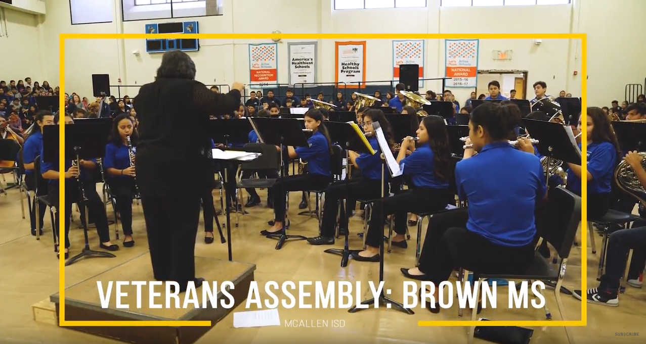 Veterans Assembly Brown Middle School