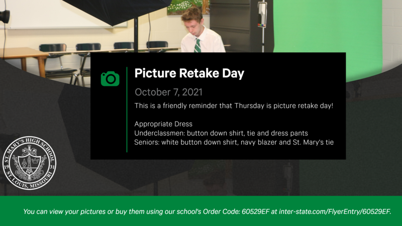 Picture Retake Day is October 7th!