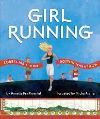 girl with long blonde hair running