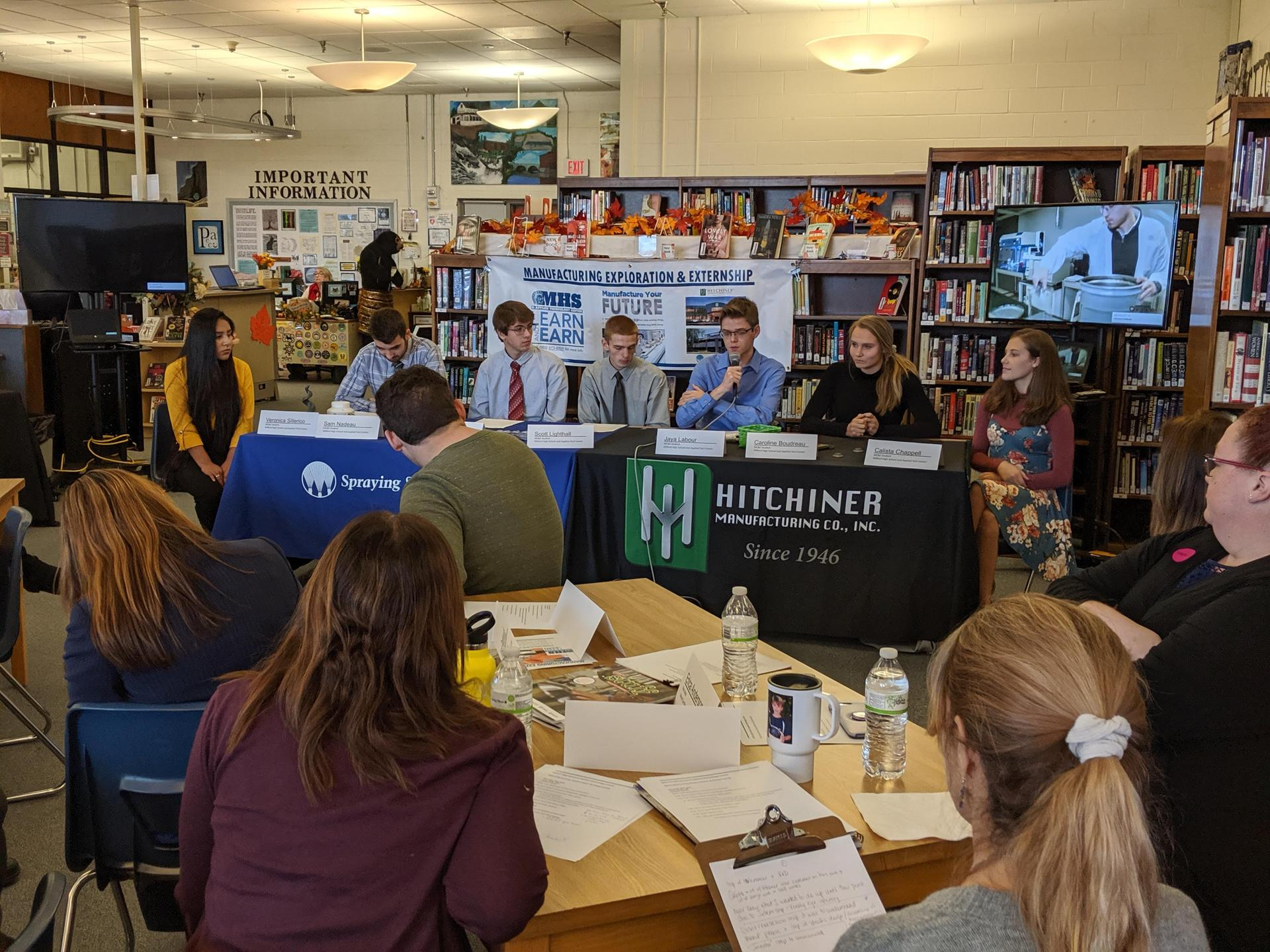 Student panel in library