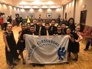 5th Grade Ballroom Dance Team Group with Teacher