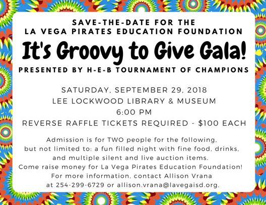 Save the date for the It's Groovy to Give Gala on September 29!