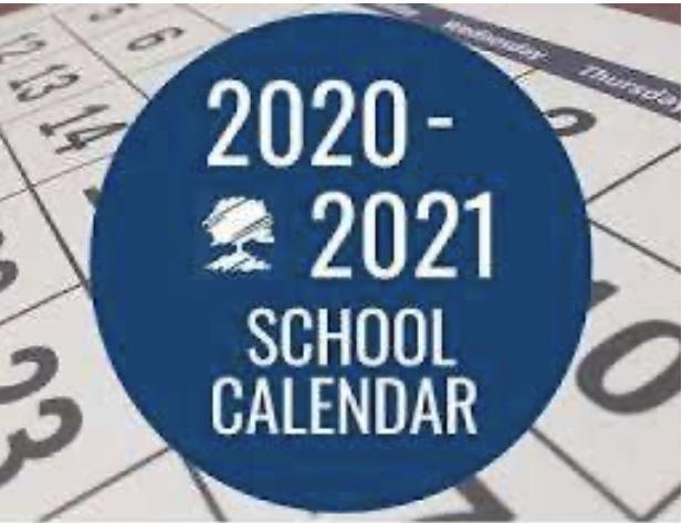 2020-2021 School Calendar Picture Image