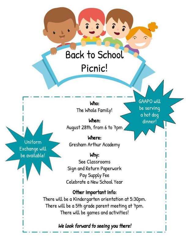 Our Back to School Picnic is August 28th! Thumbnail Image
