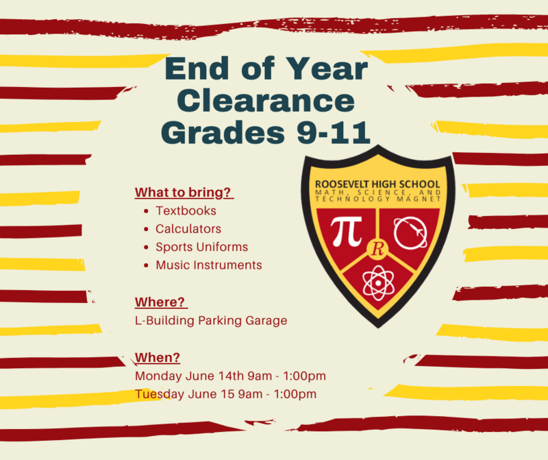 MSTMA End of Year Clearance - Grades 9-11 Featured Photo