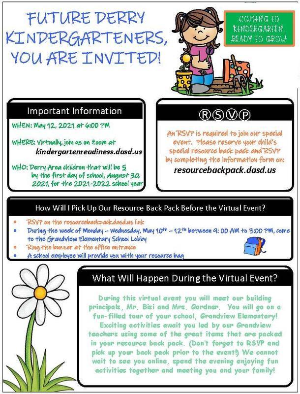 Futrue Kindergarteners Virtual Event