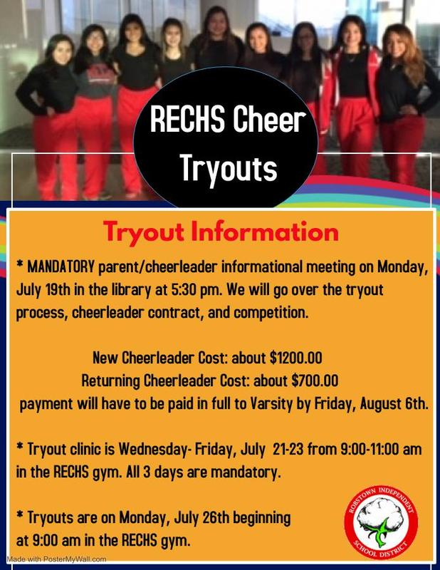 RECHS 21-22 Cheerleading Tryout Information Featured Photo