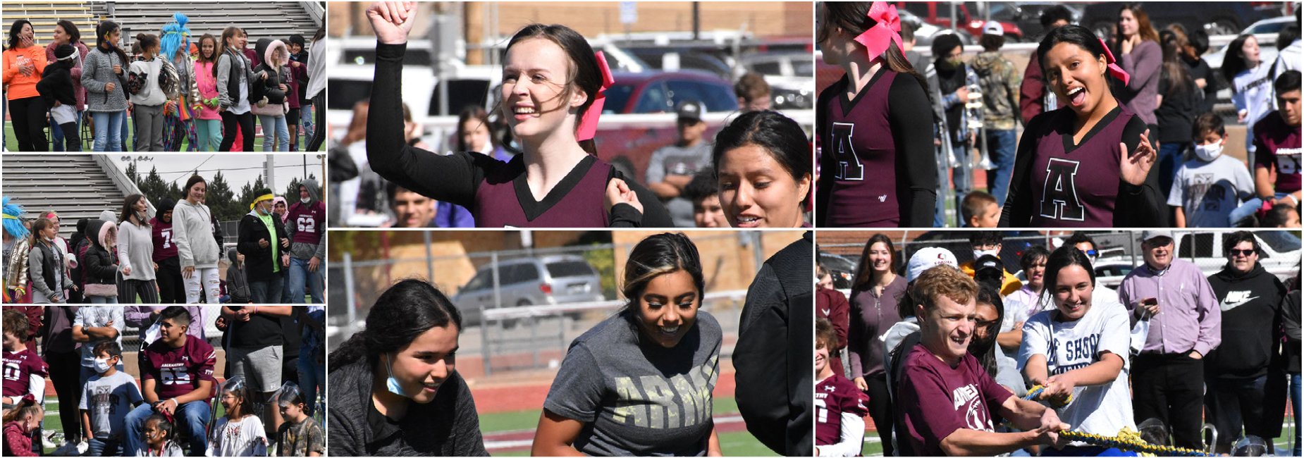 Students participate in pep-rally activities