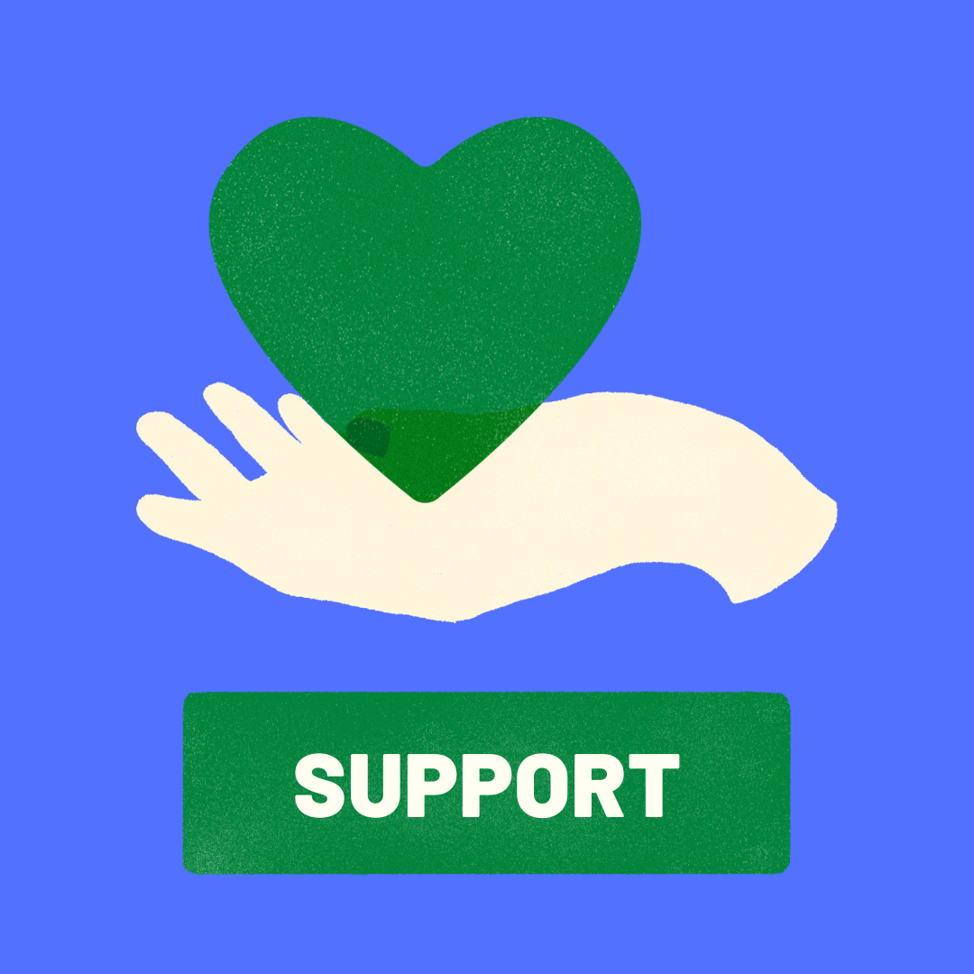 Support heart graphic