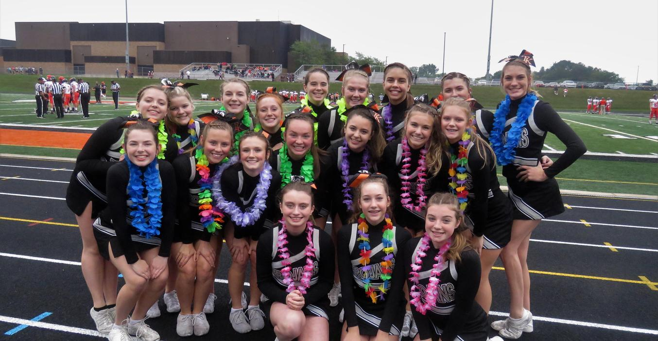 TKHS Cheerleaders help keep the crown motivated and cheer on the team.