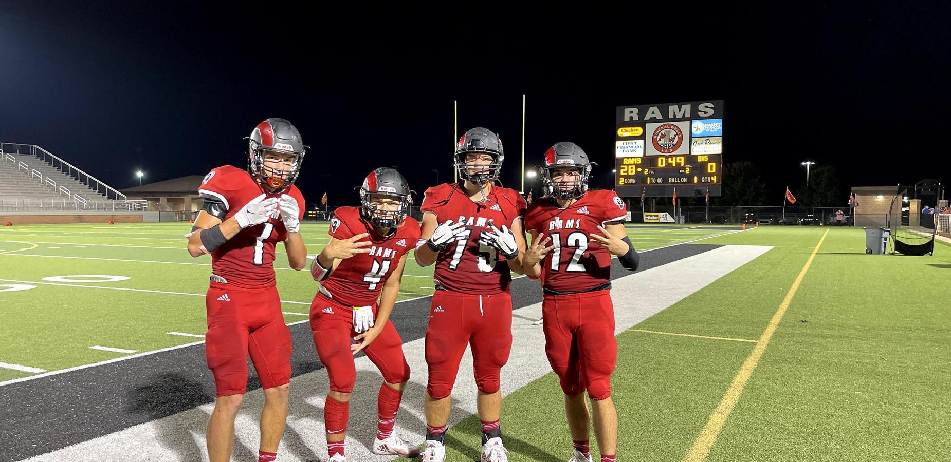Rams win football game