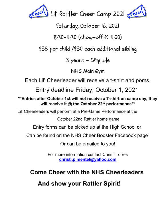 LIL RATTLER CHEER CAMP Featured Photo
