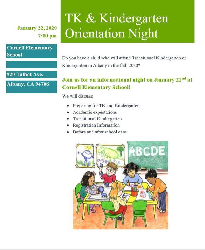 TK & Kindergarten Orientation Night Featured Photo