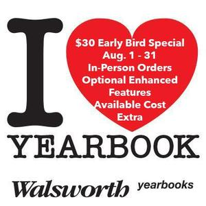 YEARBOOK EARLY BIRD SALE