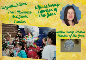 Mrs. McManus named Teacher of the Year for Wilkes County