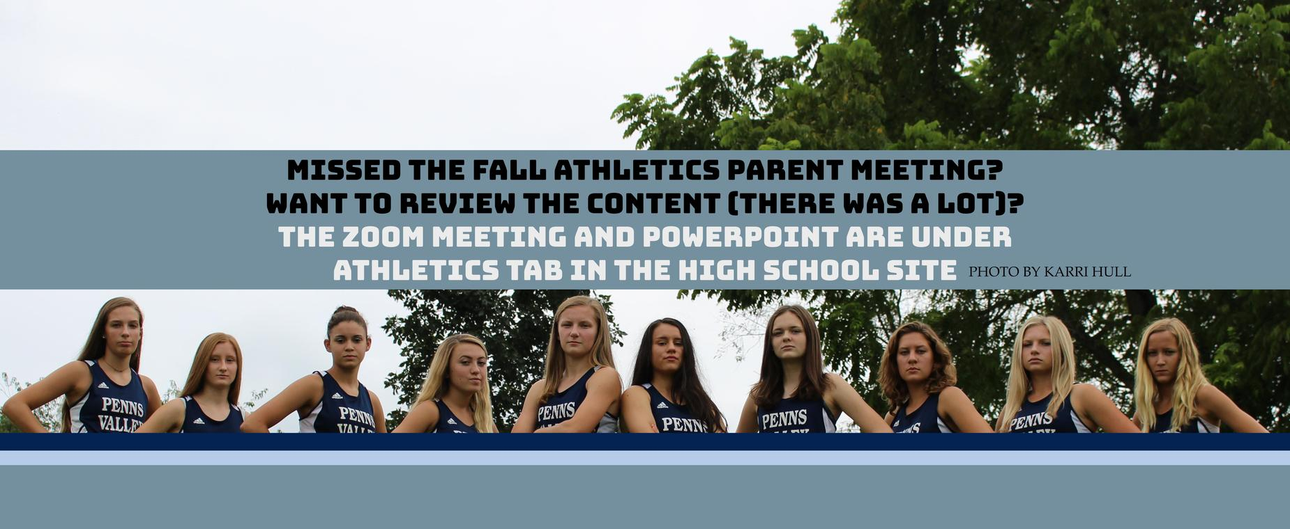 Fall Parent Athletic Meeting Info
