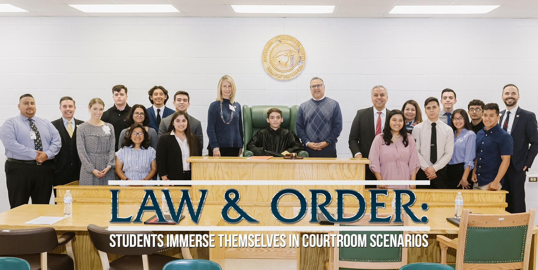 Law and Order: Students immerse themselves in courtroom scenarios
